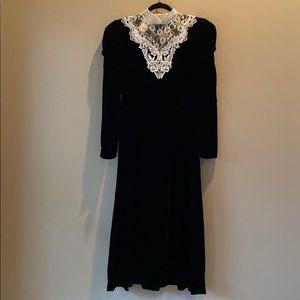 Vintage Scott McClintock Velvet Lace Prairie Dress